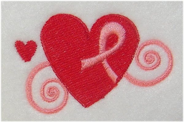 Embroidered glitter candy pink best friends bff hearts applique