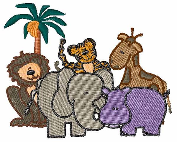 African animals embroidery design annthegran