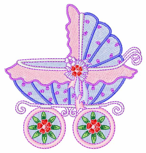 Baby s carriage embroidery design annthegran