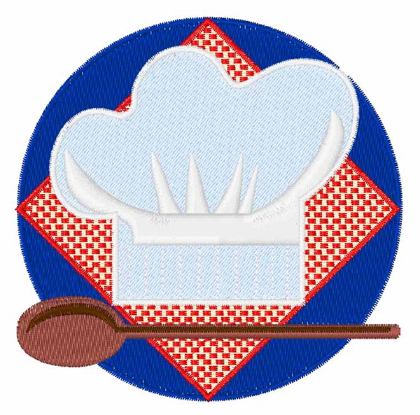 Chef hat with spoon embroidery design annthegran