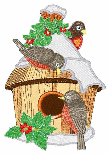 Winter Birds Embroidery Design Annthegran