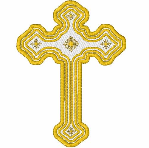 Ornate cross embroidery design annthegran