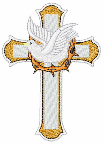 Easter cross embroidery design annthegran
