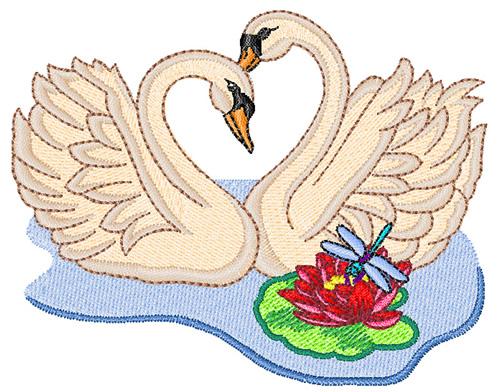 swans embroidery design annthegran