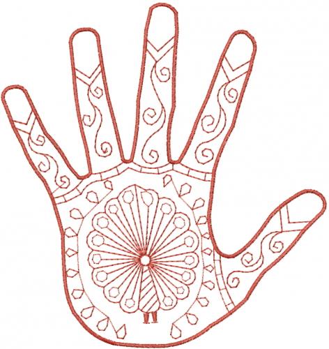 Mehndi Peacock Embroidery Design Annthegran