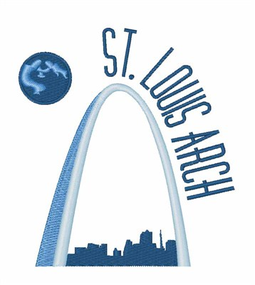 St Louis Arch Embroidery Design Annthegran