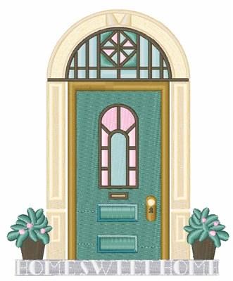 Modern Front Door Embroidery Design Annthegran
