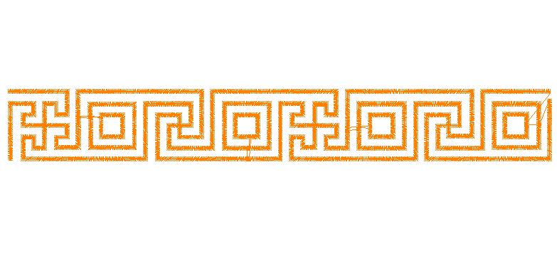 ... Patterns) Embroidery Design: Greek Key Border from Embroidery Patterns