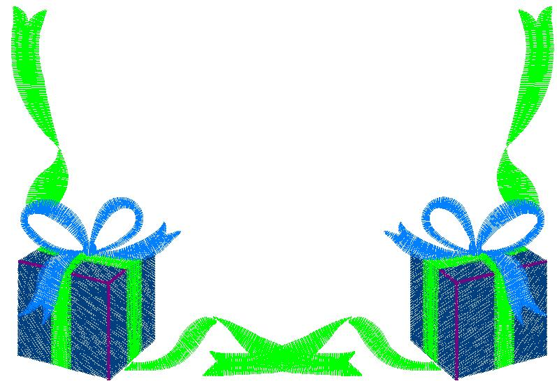 Gift Box Border Embroidery Design | AnnTheGran