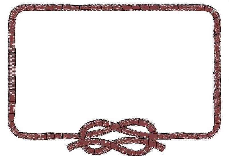 rope frame embroidery design