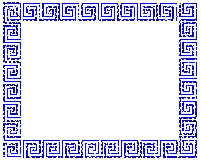 Greek Key Frame Embroidery Design | AnnTheGran