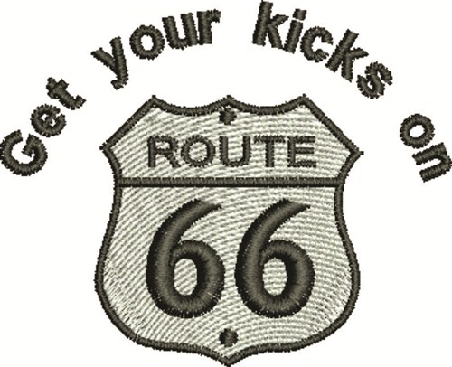 Route 66 Sign Embroidery Design Annthegran