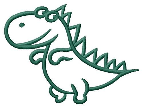 Dino Outline Embroidery Design Annthegran