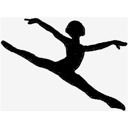 Dancer Silhouette Embroidery Design Annthegran