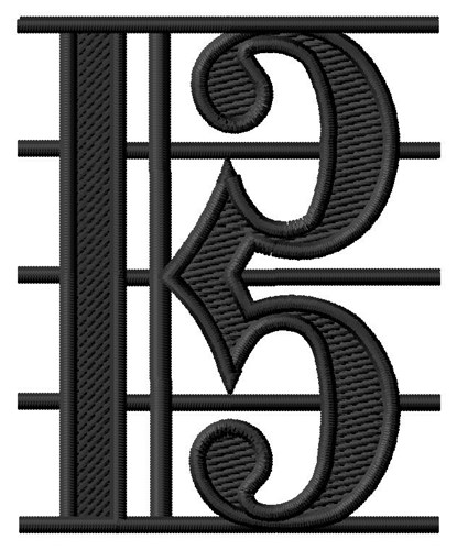 how to draw alto clef