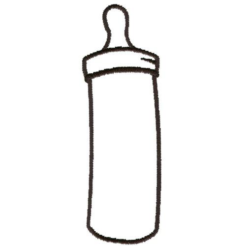 bottle outline embroidery design annthegran
