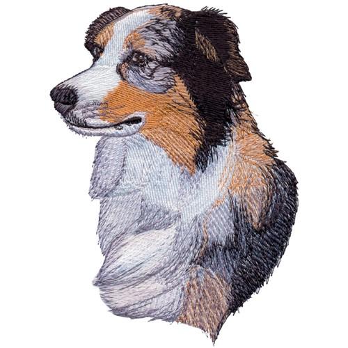Australian shepherd embroidery design annthegran