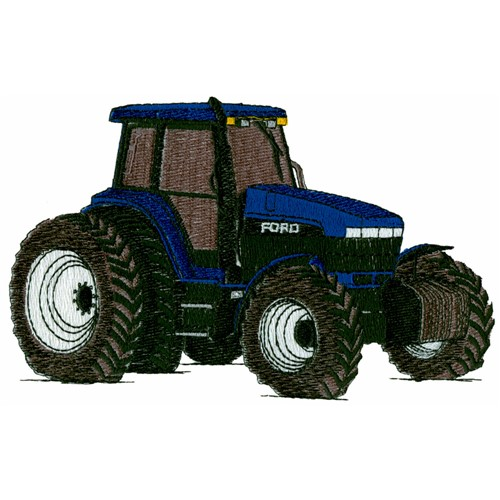 Farm tractor embroidery design annthegran