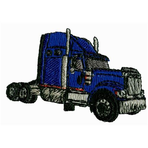 Semi Truck Embroidery Designs
