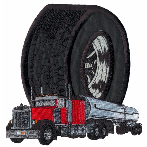 Appliqué Tiretruck Embroidery Design Annthegran
