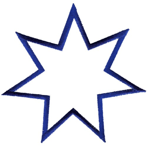 seven pointed star how to draw