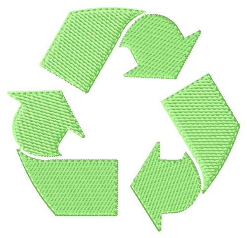 Recycle Symbol Embroidery Design Annthegran