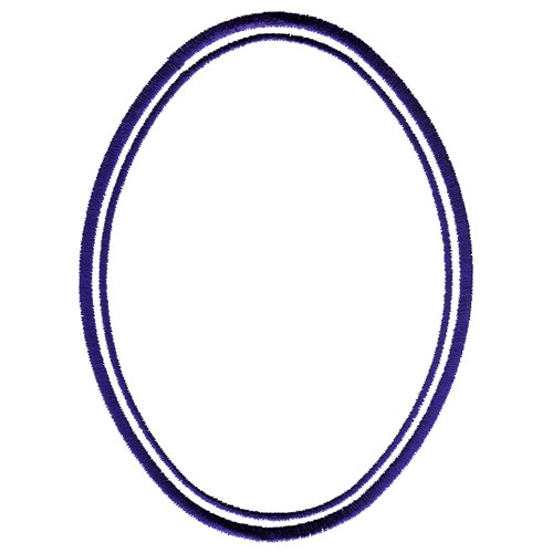Double Oval Frame Embroidery Design | AnnTheGran