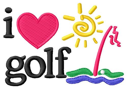 Golf Embroidery Applique Designs