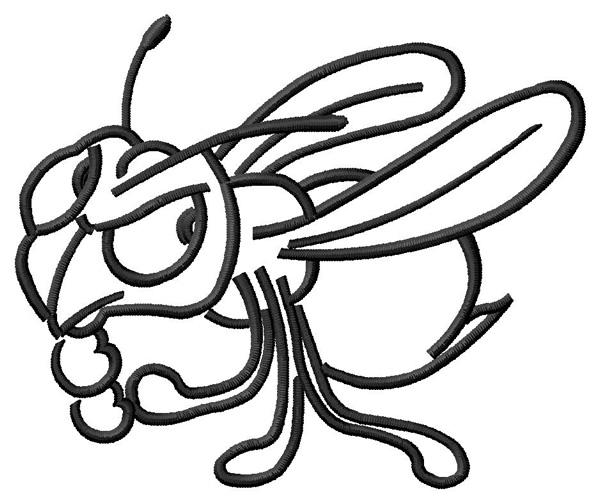 hornet outline embroidery design annthegran