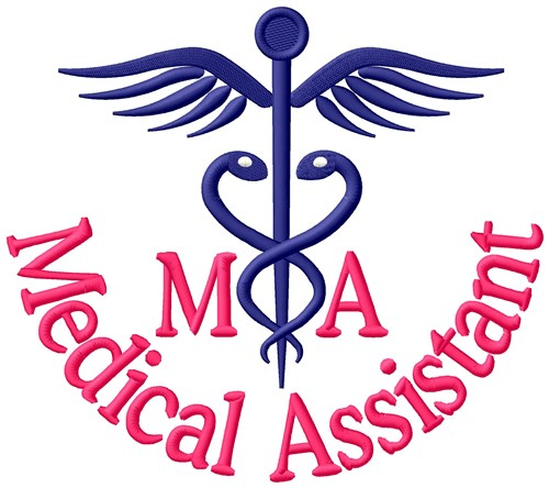 medical assistant embroidery design annthegran