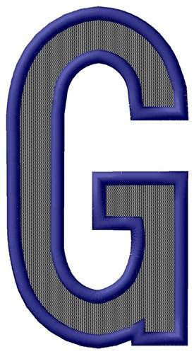 Plain Letter G Embroidery Design