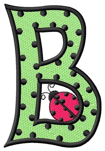 ladybug letter b embroidery design annthegran