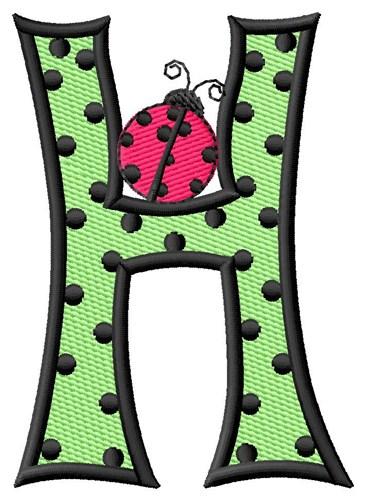 Ladybug Letter H Embroidery Design | AnnTheGran