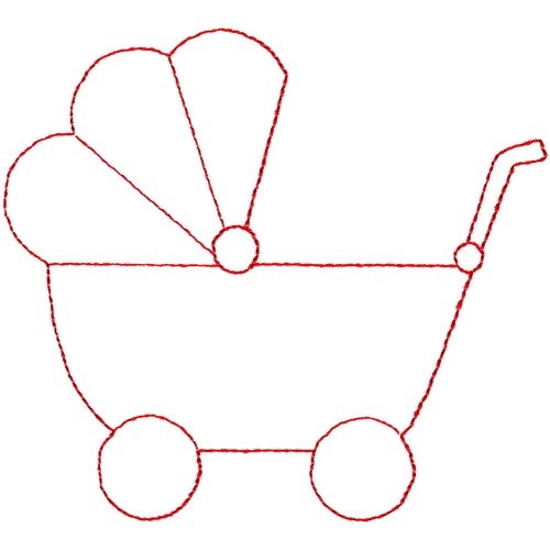 Baby Buggy Embroidery Design  AnnTheGran