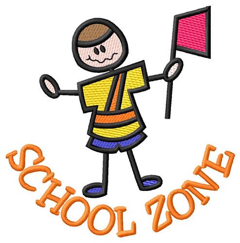 School zone embroidery design annthegran