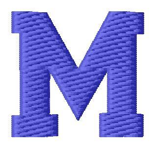 Sport Letter M Embroidery Design | AnnTheGran