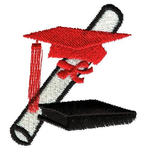 Graduation logo embroidery design annthegran