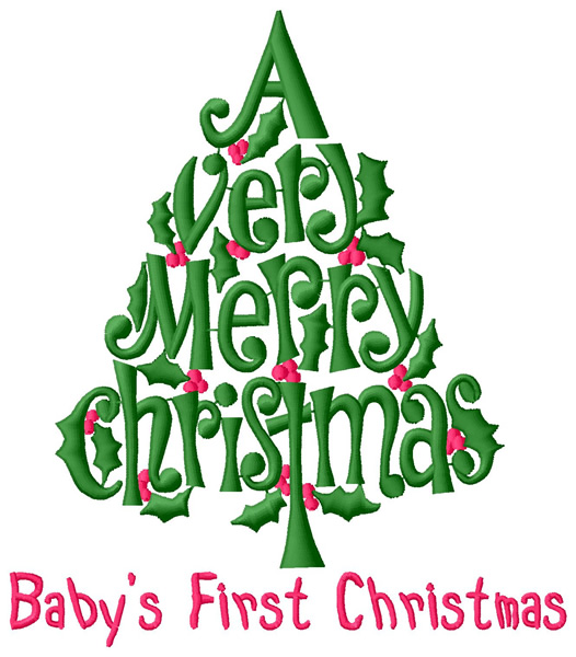 Babys First Christmas Embroidery Design Annthegran