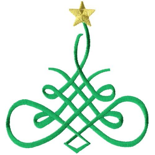 Fancy Christmas Tree Embroidery Design | AnnTheGran