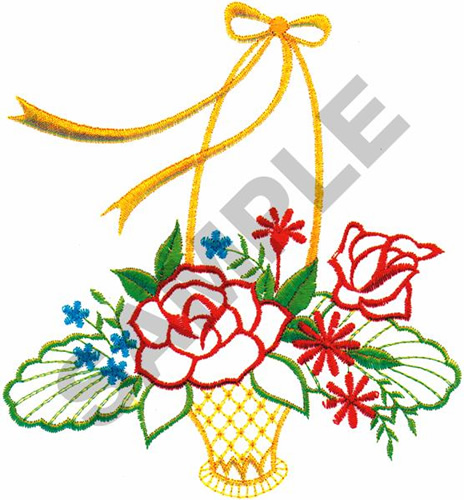 Flower Basket Embroidery Design Annthegran