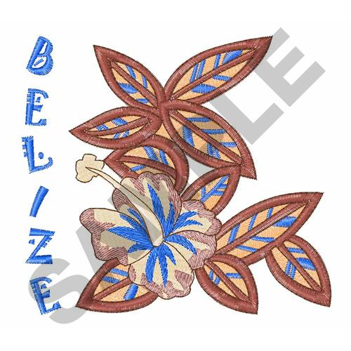 BELIZE Embroidery Design   AnnTheGran
