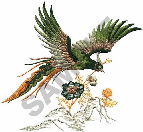 Oriental Bird Embroidery Design Annthegran