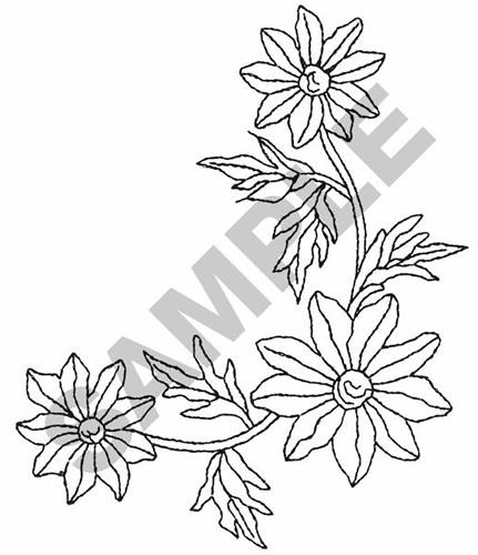Flower Corner Border Embroidery Design Annthegran