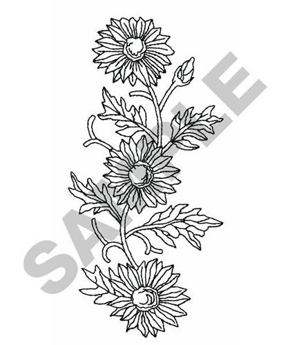 Flower Outline Embroidery Design Annthegran
