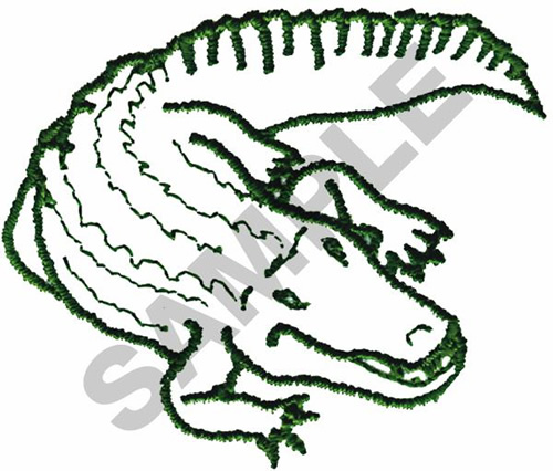 Embroidery Designs Alligator