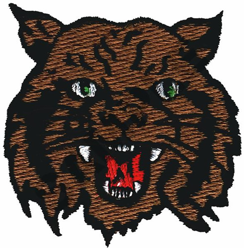 Free Wildcat Embroidery Design
