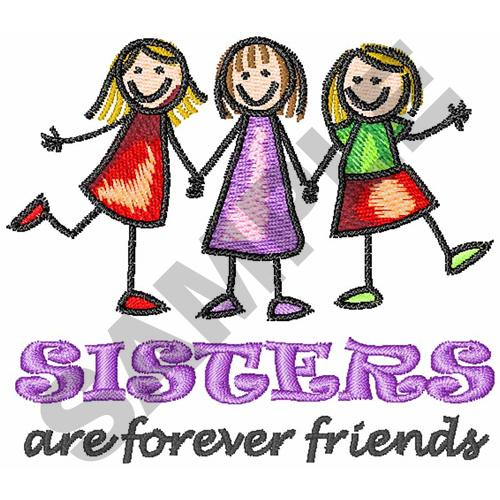 Sisters Embroidery Design Annthegran