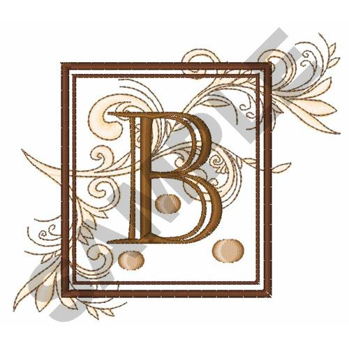 fancy square letter b embroidery design annthegran