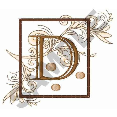 fancy square letter d embroidery design annthegran
