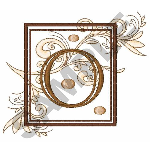 Fancy Square Letter O Embroidery Design Annthegran